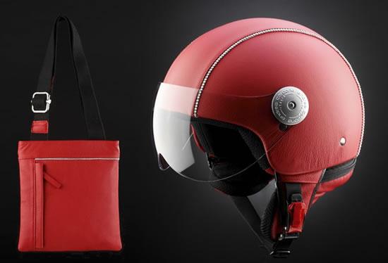 Andrea Cardone представил кожаные шлемы в кристаллах Swarovski