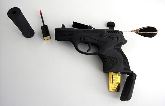 Женские пистолеты с блеском для губ от Теда Нотена