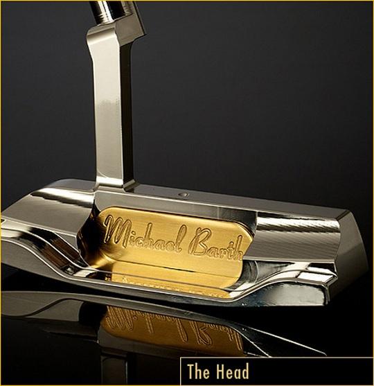 Золотая клюшка для гольфа Barth & Sons
