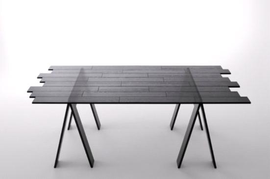 Раскладной стол из акрилового стекла от Nendo