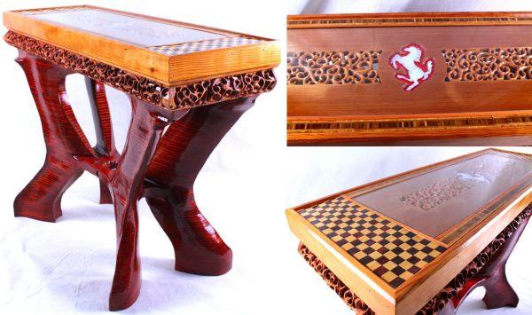 Стол из красной ели в честь Альфредо Феррари от Veraseri Designs