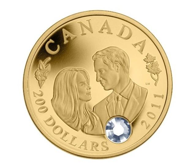 Юбилейная монета в честь принца Уильяма и Кейт Миддлтон