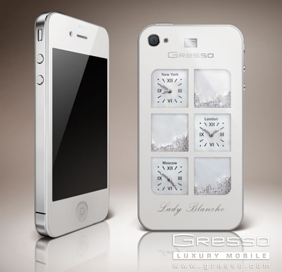 Gresso объявил о выпуске iPhone4 Lady Blanche