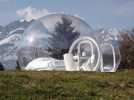Прозрачные палатки от французского дизайнера Пьера Стефана Дюма