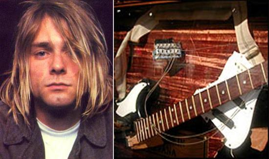 Разбитая гитара Курта Кобейна уйдет с молотка онлайн-аукциона