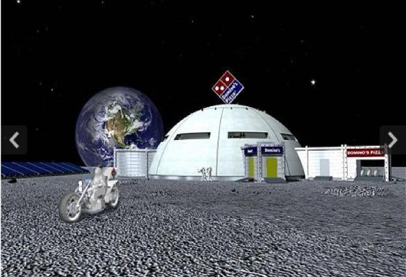 На Луне построят пиццерию Domino