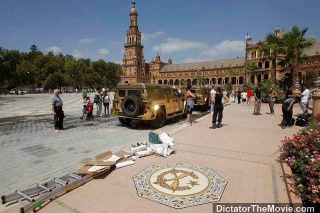 В Испании засветились золотые Dartz Kombat для картины «Диктатор»