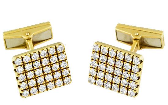 Запонки из золота и бриллиантов от Piaget