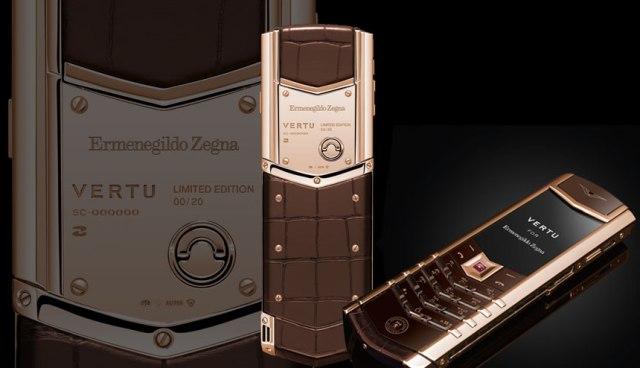 Золотой Signature Vertu в честь 20-летия Ermenegildo Zegna