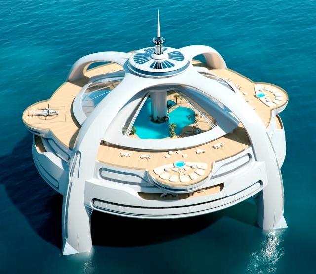 Utopia - новый райский остров Yacht Island Design