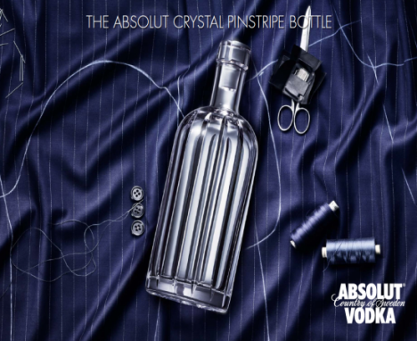 Absolut Crystal Pinstripe в люксовой бутылке