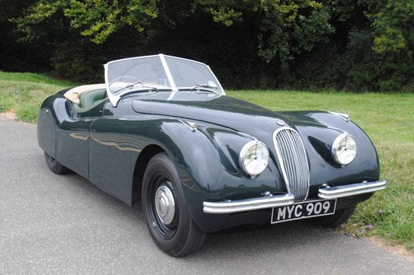 Jaguar XK 120 1951 года уйдет с молотка аукциона Historics