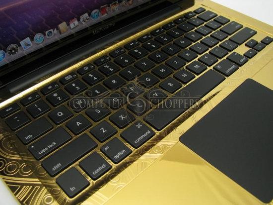 Computer-Choppers презентовала ноутбук Macbook Pro в золоте