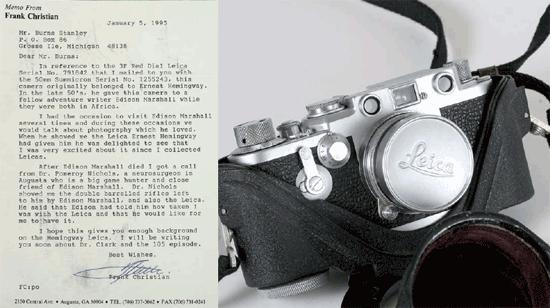 Фоторужье и камеру Эрнеста Хемингуэя выставили на аукцион