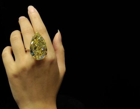 Самый большой в мире желтый бриллиант выставят на Сотбис