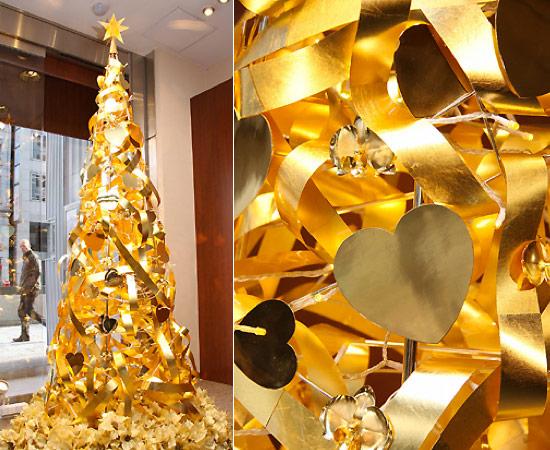 Золотая ёлка на Рождество
