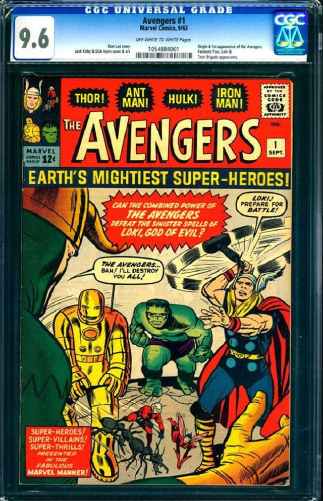 Первый номер комикса «The Avengers» ушел с молотка за 0 тыс.