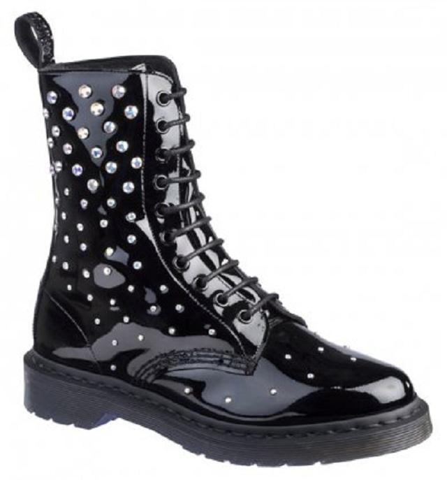 Ботинки в кристаллах Swarovski от Dr Martens