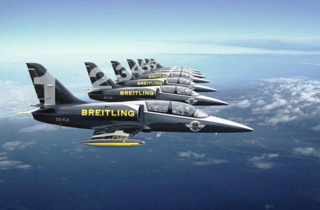 Пилоты Breitling Jet полетали ниже уровня моря