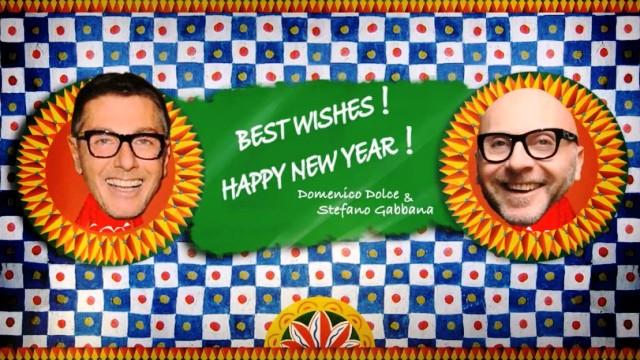 Dolce & Gabbana поздравляет с Новым годом