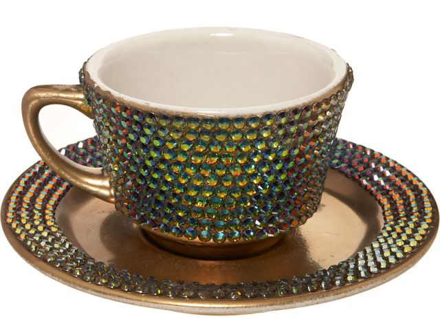 Кристальная чашка с бриллиантом Леди Гаги