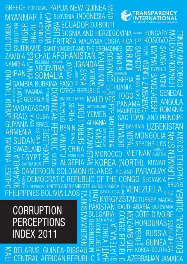 Рейтинг коррумпированности стран мира 2011
