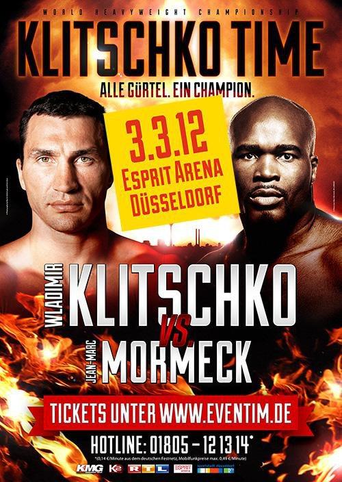 Кличко проведет бой с Мормеком 3 марта 2012