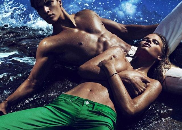 Лара Стоун в новой кампании Calvin Klein