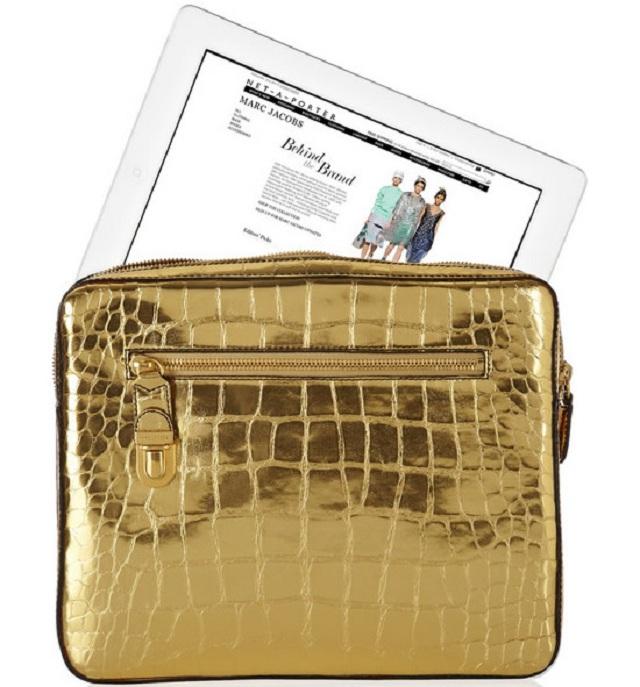 Золотистый кейс для iPad от Marc Jacobs