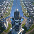 Башня Азербайджана (Azerbaijan Tower) в Хазар Айленд