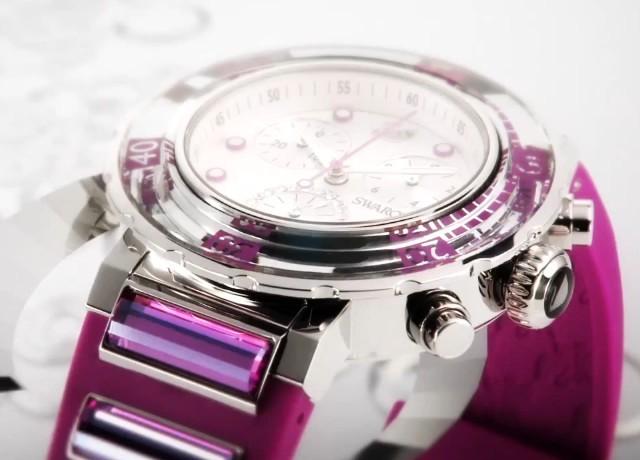 Кристальные часы Swarovski 2012