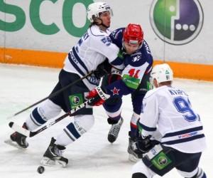 Питерский СКА дважды уступил московскому Динамо
