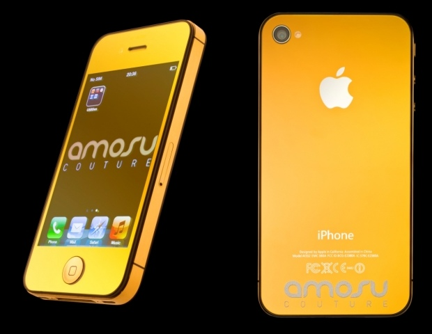 Золотой Full Gold Apple iPhone 4S от Amosu Couture