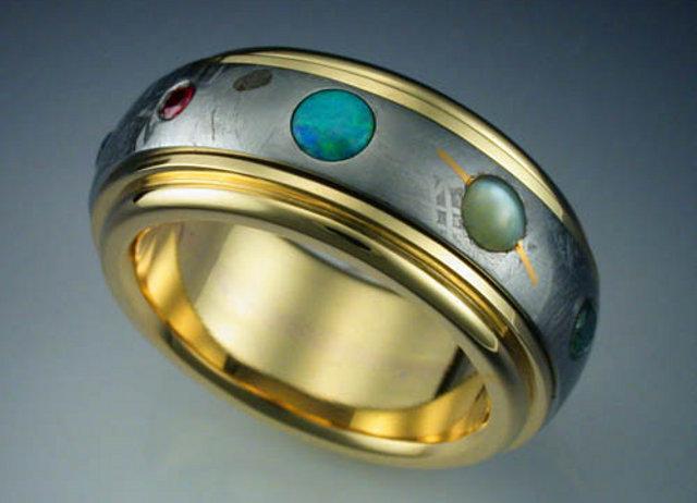 Планетарное кольцо из метеорита Гаваоне