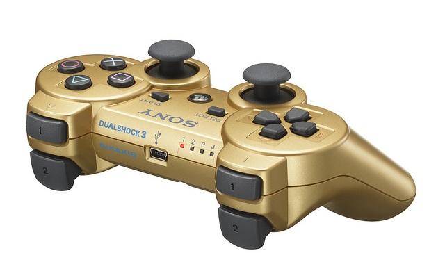 Золотой контроллер Dualshock 3 для PS3