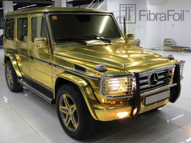 Золотой джип Mercedes