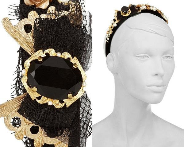 Обруч для волос от Dolce & Gabbana