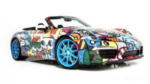 Арт-кар Porsche 911 Cabriolet от Ромеро Бритто