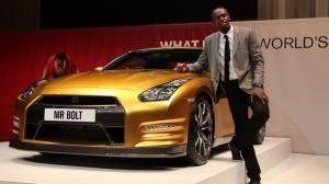 Золотой Nissan GT-R Усэйна Болта продали за 3,000