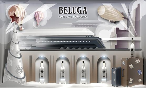 Бренд BELUGA оформил витрины для сети магазинов Глобус Гурмэ