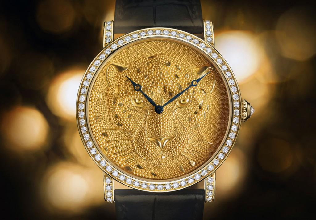Эксклюзивные часы Rotonde de Cartier с грануляцией