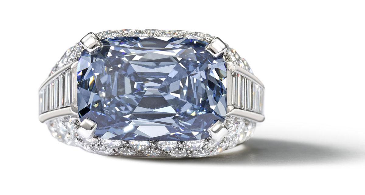 Кольцо с голубым бриллиантом от Bvlgari уйдет с молотка ...