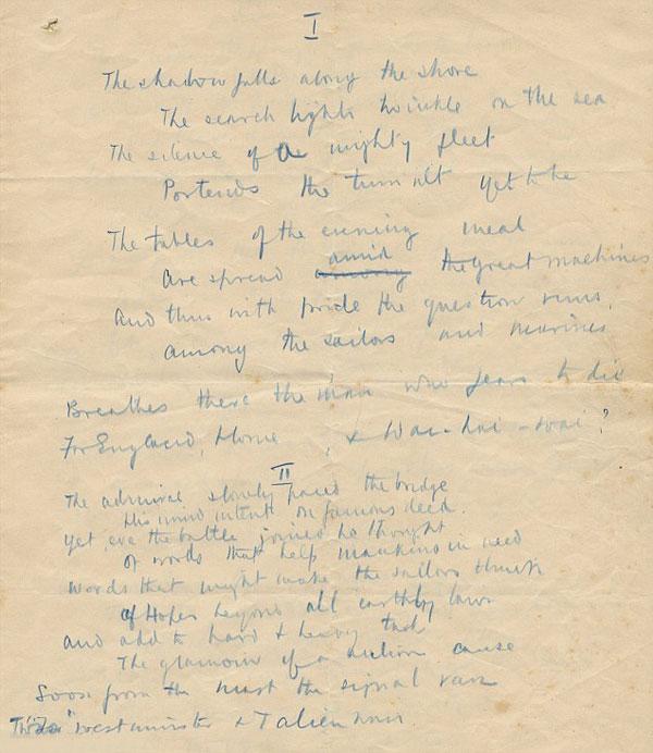 Стих Уинстона Черчилля продадут на аукционе