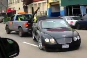 Bentley Continental GTC уволокли на утиль