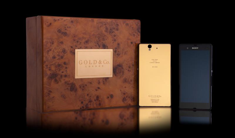 Первый в мире Sony Xperia Z в 24К золоте от Gold & Co