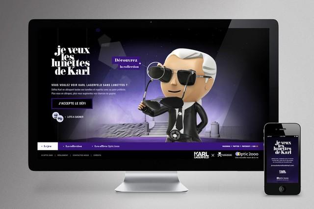 Je veux les lunettes de Karl