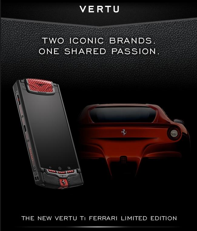 VERTU Ti Ferrari Limited Edition 2013