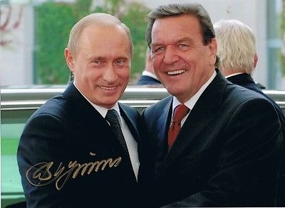 Avtograph Putina Vladimira
