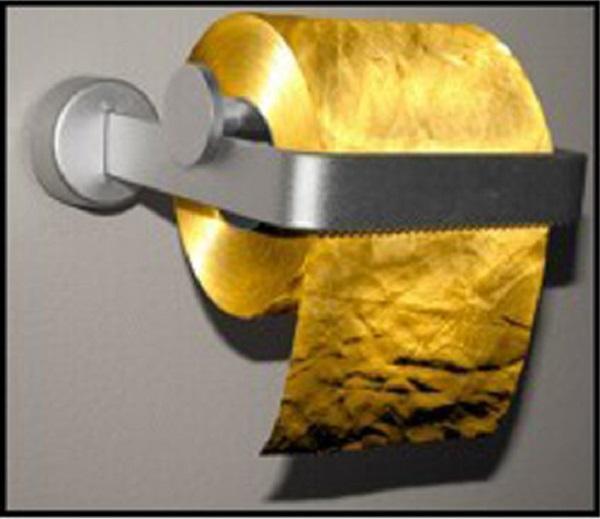Туалетная бумага из 22К золота за ,38 млн от Toilet Paper Man