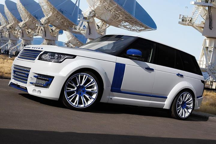 Lumma Range Rover CLR R White and Blue Edition